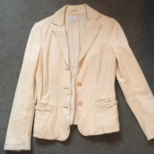 Super soft lamb leather blazer